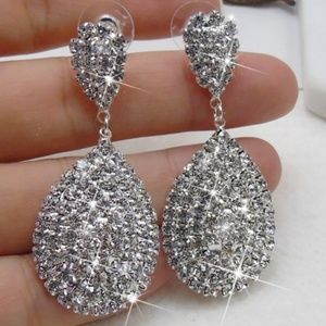 Brand New Sterling Silver and Crystal Earrings